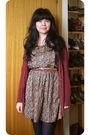 Red-revival-dress-red-dotti-sweater