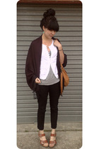 thrifted vest - Miss Shop jeans - Chinatown scarf - Madame Mooi purse - Chloe sh
