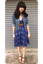 thrifted dress - thrifted jacket - thrifted belt - Chloe shoes
