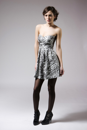 silver Mink Pink dress