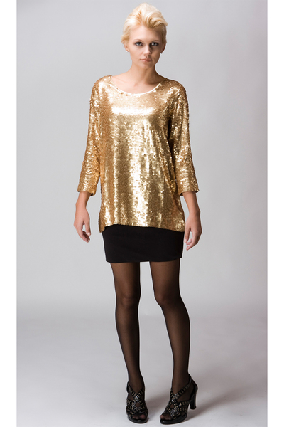 gold Maurie and Eve blouse