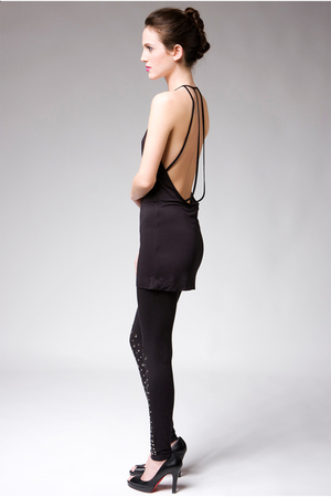 black Factory by Erik Hart top - black Factory by Erik Hart leggings