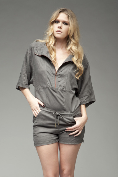 charcoal gray tencel romper t by alexander wang romper