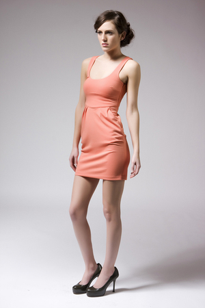 orange BB Dakota dress
