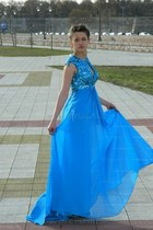 blue chiffon Msdressy dress