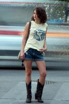 time out t-shirt - H&M boots - david jones bag