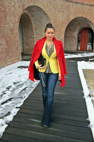 yellow lemon Zara blazer - teal Fashion Pymes Italy boots