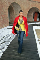 yellow lemon Zara blazer - teal Fashion Pymes Italy boots