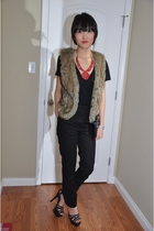 black H&M pants - brown Marni shoes - red Forever 21 accessories - brown Forever