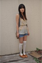 orange shoes Jeffery Campbell shoes - beige dress Urban Outfitters dress