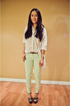 platform Marni heels - zipper Zara pants