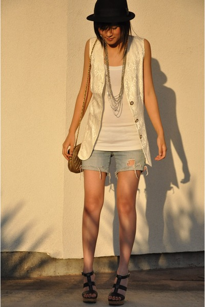 vintage vest - Urban Outfitters hat - vintage accessories - Nordstrom Rack shoes