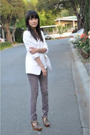 blazer - BDG pants - Chloe shoes