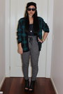 Thrifted-vintage-cardigan-highwaisted-minkpink-pants-diva-accessories