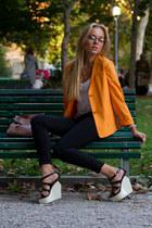 Jil Sander jacket - YSL bag - sportmax pants - Giuseppe Zanotti Design wedges