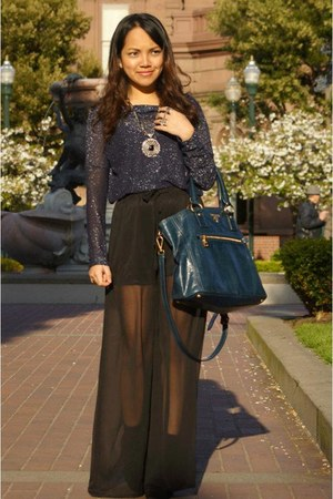 Promod top - Prada bag - romwe pants