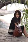 Asos-dress-leather-vintage-bag