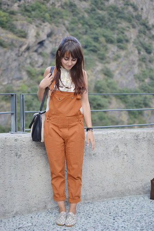 orange Blue deep pants - tan pois Anniel shoes