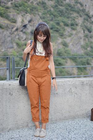 orange Blue deep pants - tan pois Anniel shoes