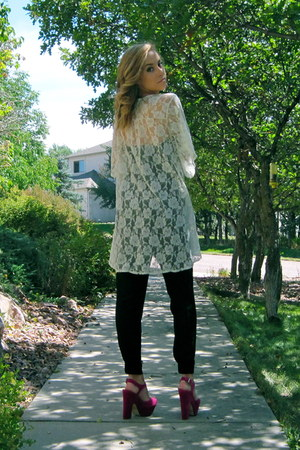 lace kimono pins and needles top - wish bodysuit