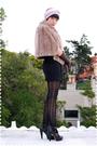 Purple-american-apparel-accessories-brown-coat-black-indie-industries-dress-
