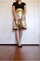 Nordstrom BP t-shirt - vintage skirt - thrifted vintage 9 west shoes