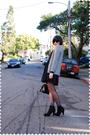 Gray-jcrew-cardigan-black-erin-fetherston-for-target-dress-black-tabio-stock