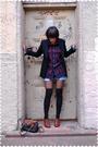 Black-jcrew-blazer-blue-blouse-blue-levis-shorts-black-drug-store-stocking