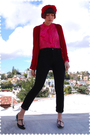 Red-accessories-red-zara-cardigan-pink-blouse-black-j-brand-jeans-black-