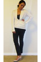 Michael Stars sweater - Michael Stars shirt - Uniqlo jeans - shoes