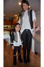 White-forever-21-top-black-forever-21-leggings-black-forever-21-vest-black