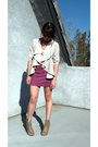 Purple-h-m-cardigan-white-michael-stars-top-pink-h-m-skirt-beige-forever-2