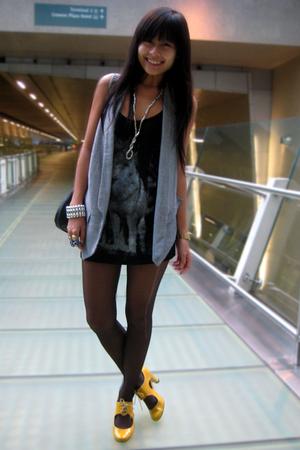 Dorothy Perkins top - Zara vest - Schu shoes - Nine West accessories