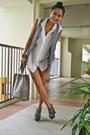 Heather-gray-zara-vest-forest-green-jlo-heels-silver-f21-earrings-black-wh