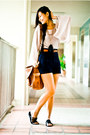 Brown-mango-bag-navy-zara-shorts-nude-topshop-blouse-black-mphosis-sandals