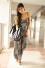 Black-f21-pants-brown-steve-madden-shoes-gold-ysl-accessories