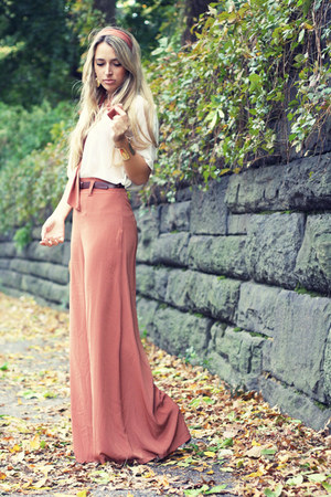 coral necessary clothing pants - camel Jeffrey Campbell boots