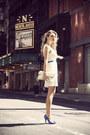 White-ivana-helsinki-dress-white-vj-style-bag-blue-manolo-blahnik-heels