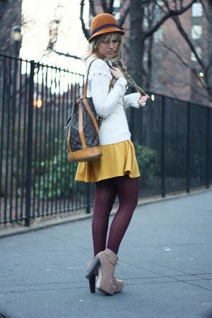 tan Jeffrey Campbell boots - mustard necessary clothing dress