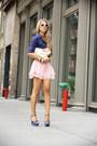 White-vj-style-bag-bubble-gum-vj-style-shorts-navy-bakers-heels