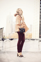 Chanel bag - Sheinside cape - Uniqlo pants - Sole Society heels