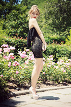 black Dress The Population dress - eggshell H&M bag
