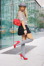 Silver-h-m-hat-red-moschino-bag-silver-forever21-socks-black-h-m-skirt