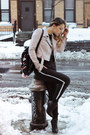 Black-h-m-boots-neutral-bebe-jacket-black-stradivarius-bag