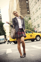 brick red abercrombie and fitch skirt - charcoal gray Forever 21 blazer