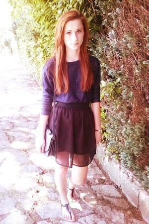 Zara sweater - szafapl shirt - second hand bag - Sinsay sandals