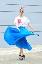 sky blue maxi skirt Choies skirt - cream cut out Chemjoycom ring