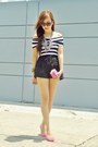 White-nautical-wholesale7-top-black-lace-shorts-bronze-nine-west-sunglasses