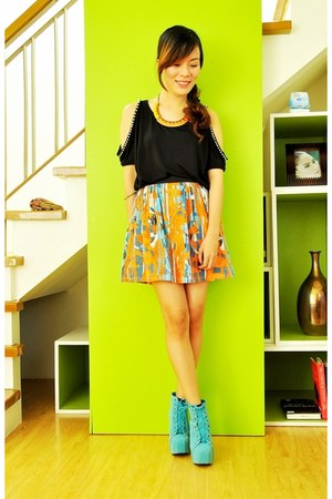 carrot orange skater Stiles by Fabshop skirt