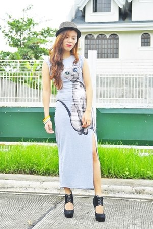 silver maxi dress PERSUNMALL dress